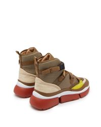 Chloé - Multicolor Sonnie Raised Sole High Top Trainers - Lyst