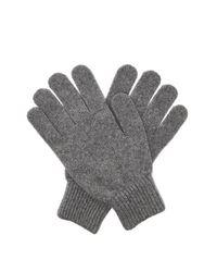 Gants en laine mérinos et cachemire Paul Smith pour homme en coloris Gray