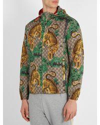 Gucci Green Bengal Tiger Print Jacket for men