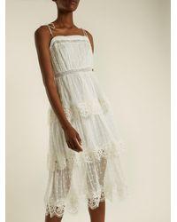 Zimmermann - Multicolor Meridian Circle-lace Silk Dress - Lyst