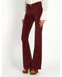MiH Jeans - Blue Marrakesh High-rise Kick-flare Velvet Trousers - Lyst