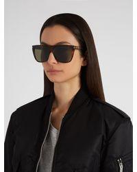 Saint Laurent - Multicolor Flat Top Acetate Sunglasses - Lyst