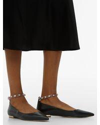 Chaussures plates en cuir à ornements Dina Sophia Webster en coloris Black
