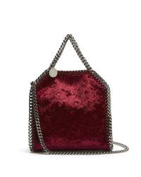 Stella McCartney - Red Tiny Falabella Velvet Cross-body Bag - Lyst