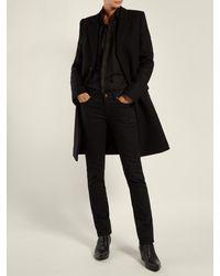 Jean skinny en denim à taille mi-haute Saint Laurent en coloris Black