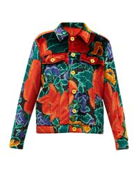 M Missoni フローラルアップサイクルベルベット シャツジャケット Multicolor