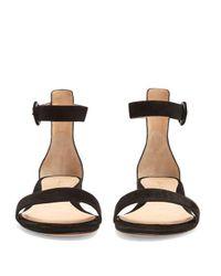 Gianvito Rossi - Black Portofino 20 Block-heel Suede Sandals - Lyst