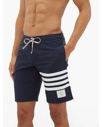 メンズ Thom Browne 4bar スイムボードショーツ Blue