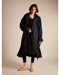 Velvet By Graham & Spencer Black Lilac Scoop-neck Cotton-gauze Dress