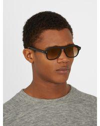 Cutler & Gross - Black 0822/s2 Aviator Acetate Sunglasses for Men - Lyst