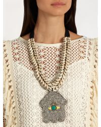 Figue White Goddess Shell Necklace