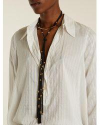Chloé - Black Otis Layered Cord Necklace - Lyst
