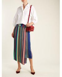 RED Valentino - White Bib-detail Stretch-cotton Shirt - Lyst