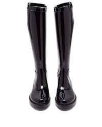 Ann Demeulemeester Black Knee High Patent Leather Boots