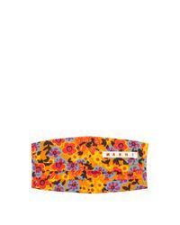 Marni フローラル フェイスマスクカバー Multicolor