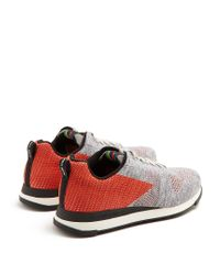 Paul Smith Gray Ps Rappid Low-top Knitted Trainers for men