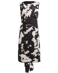 N°21 Black Tie-dye Open-back Cotton-blend Dress
