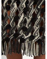 Tabula Rasa Gray Lela Hand Macramé Pompom Embellished Skirt
