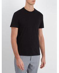 Prada Black Set Of Three Cotton-jersey T-shirts for men