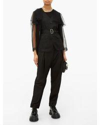 Veste ceinturée en tulle transparent Noir Kei Ninomiya en coloris Black