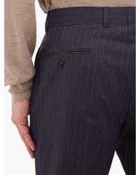 メンズ Dunhill ストレートレッグ ピンストライプ ウールパンツ Multicolor