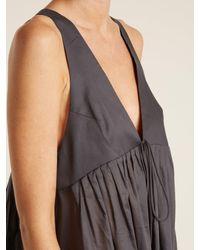 Three Graces London - Multicolor Lindera V-neck Pleated Cotton Nightdress - Lyst