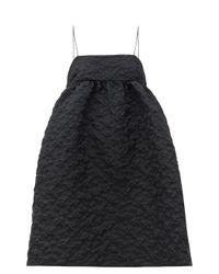 CECILIE BAHNSEN リスベス フローラルキルティングドレス Black