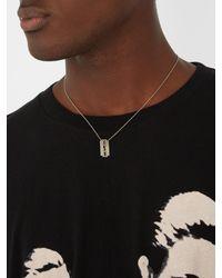Saint Laurent - Metallic Cut-out Logo-pendant Necklace for Men - Lyst