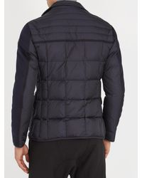 Moncler Blue Ardenne Layered Quilted-down Coat for men