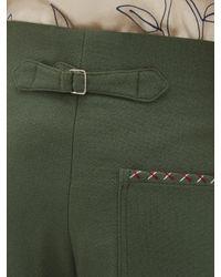メンズ Bode Souvenir ハイライズ ウールパンツ Green