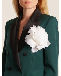 Racil - White Country Rose Brooch - Lyst