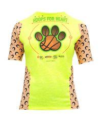 MARINE SERRE Hoops For Heart アップサイクル Tシャツ Yellow