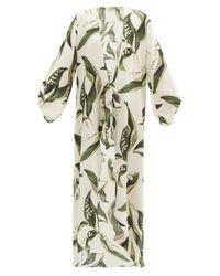 Adriana Degreas ミュゲ シルクサテン カバーアップドレス Multicolor