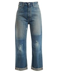 Chimala - Blue Straight Leg Cropped Jeans - Lyst