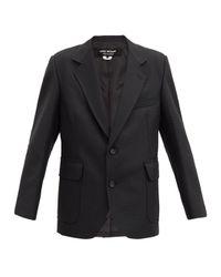 Junya Watanabe エルボーパッチ ハウンドトゥース シングルジャケット Black