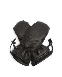 Lacroix Black Lx Initial Leather Ski Mittens