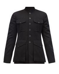 メンズ Balenciaga パッチポケット ウールジャケット Black