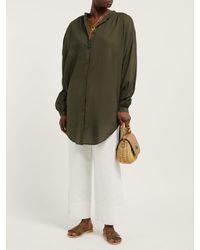 Caftan en coton à col en V The Brea Skin en coloris Green