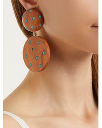 Rebecca de Ravenel Brown Marina Clip On Earrings