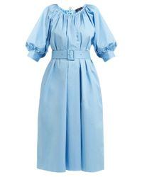 Robe tunique en coton mélangé Shan Joseph en coloris Blue