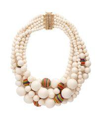 Rosantica By Michela Panero - White Arlecchino Multi-strand Beaded Necklace - Lyst