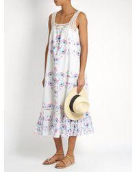 Athena Procopiou - Multicolor Flower Child Cotton Dress - Lyst