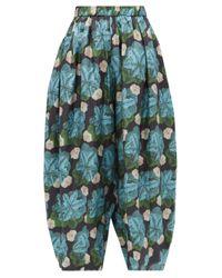 Biyan フローラル シルクツイルパンツ Multicolor