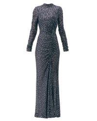 Jonathan Simkhai スパンコール ハイネックドレス Blue