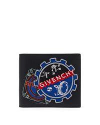メンズ Givenchy ロゴ レザーバイフォールドウォレット Multicolor