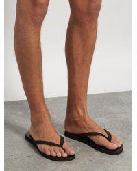 Gucci Black Snake-print Flip Flops for men
