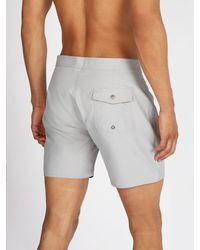 Saturdays NYC Gray Colin Solid Swim Shorts for men