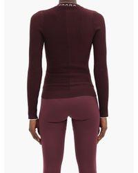 Vaara フィリパ リブニットウール ロングスリーブtシャツ Purple