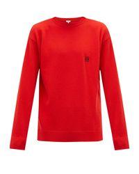 Pull en laine à logo Anagramme Loewe pour homme en coloris Red