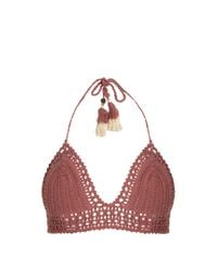 She Made Me Pink Essential Bralette Crochet Bikini Top